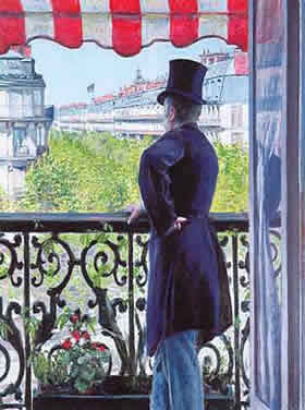 Blog caillebotte homme balcon